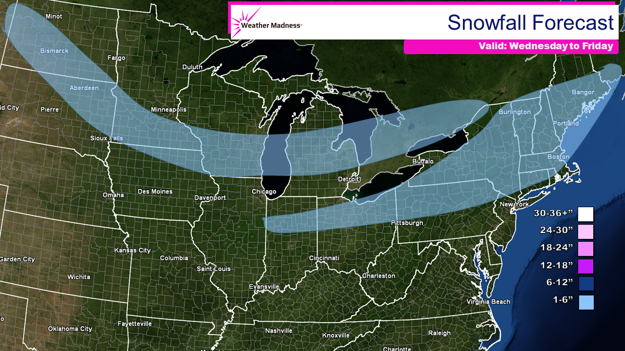 Evening Update on the Snow(s)….Two Storms Midwest and Northeast and it's Just the Start!