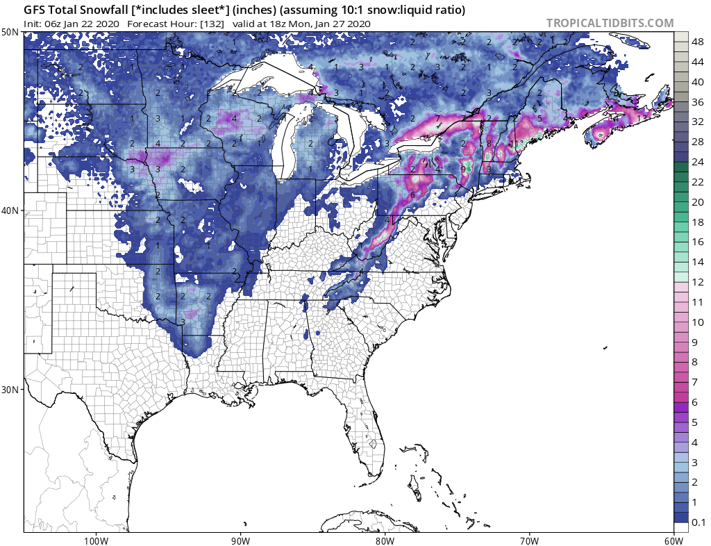 Storm will Produce Snow as it Comes East…Midwest and Northeast Get the Most Snow!