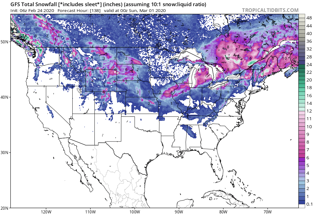 Heavy Snow Ends February for Folks in the Midwest, Great Lakes and Northeast