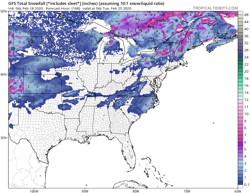 An Interesting Pattern Showing Up that May Bring Snow the South and Northeast