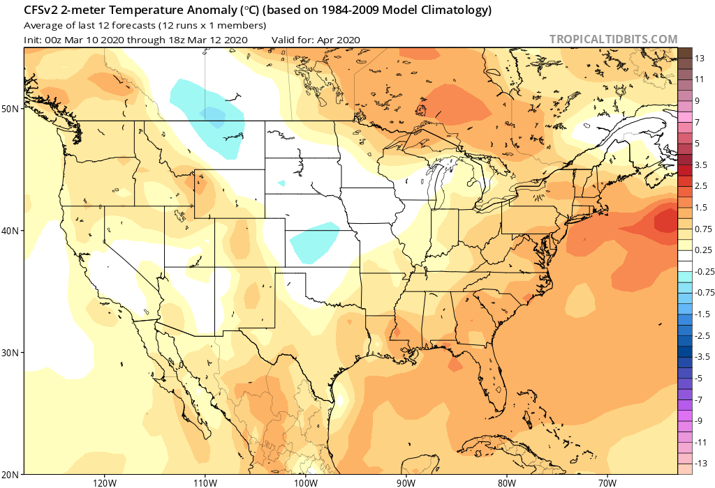 Stormy in the Plains as Snow Dwindles Coming East, Long Range Warmth Look