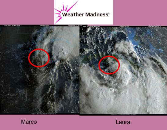 Marco Weakens while Laura will Gain Strength in the Gulf