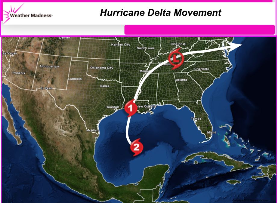 Delta Hits Friday Evening. Lets Hope as a Weaker Storm!