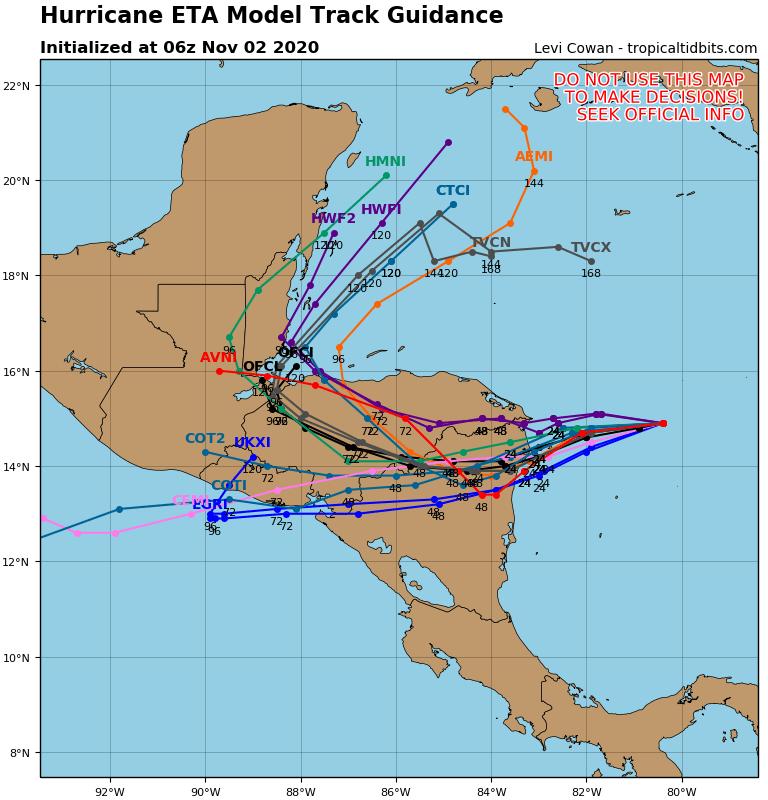 Major Hurricane Eta to Hit Central America then Back into the Caribbean!