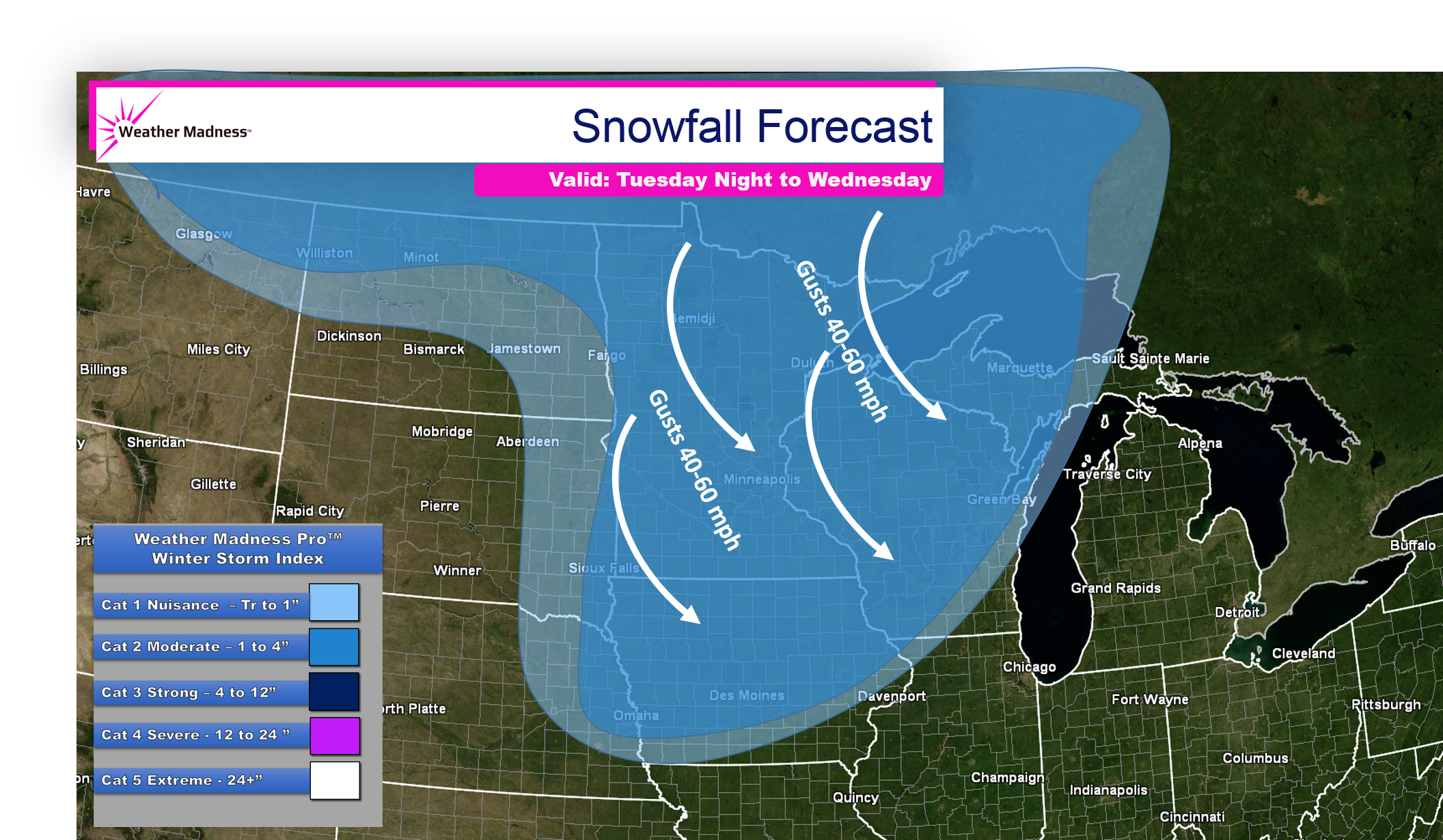 Blizzard across the Northern Plains, Snow and Flash Freezes Coming East