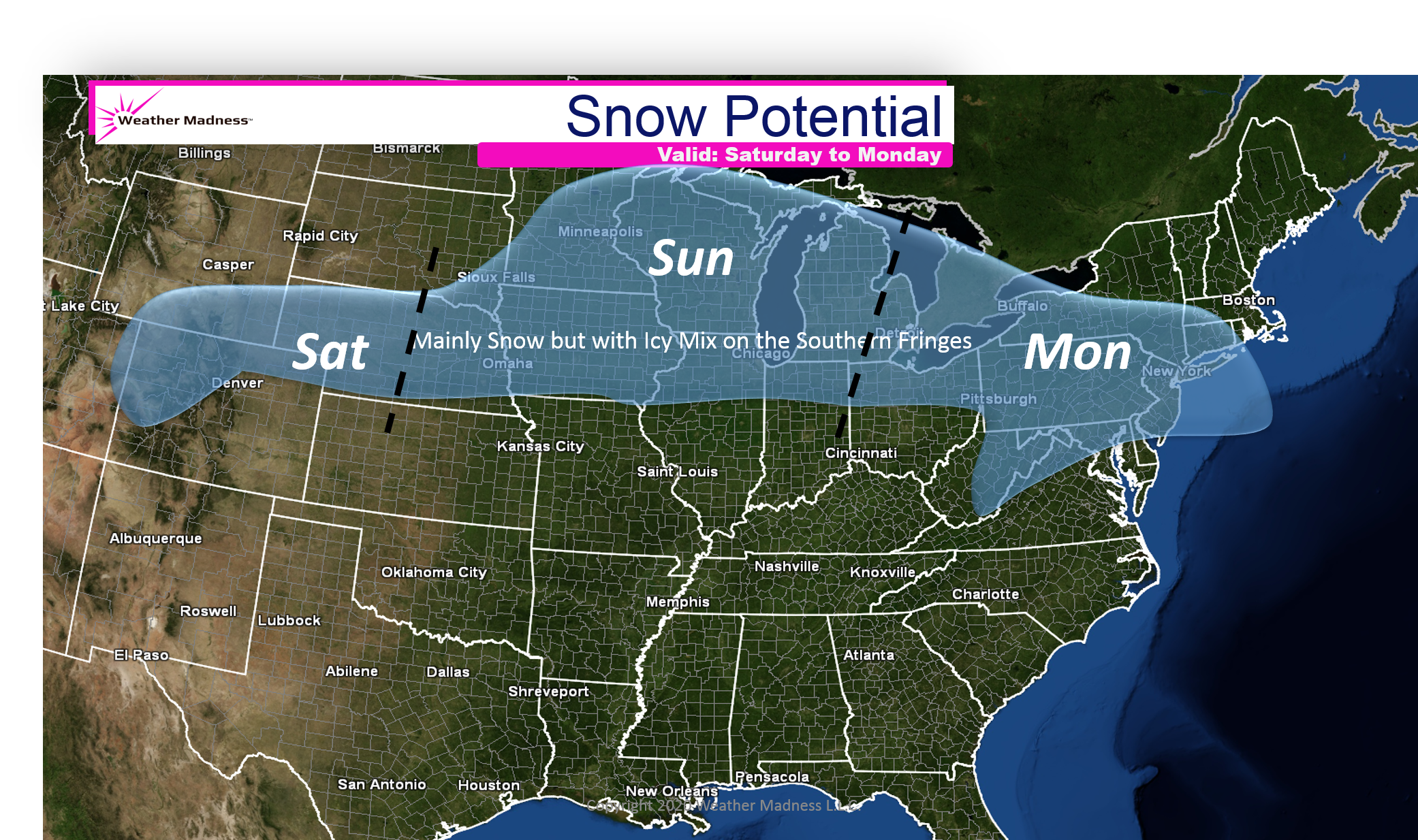 Snow Potential Next Week. Two Storms Coming!