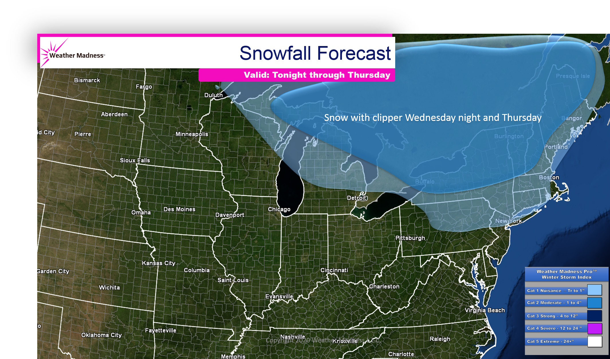Clipper to Bring More Snow Eastern Canada and Northeast…NYC May See Some!