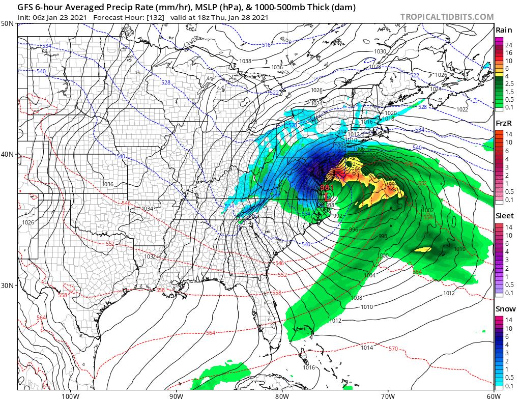 GFS Might be Sensing a Major Storm