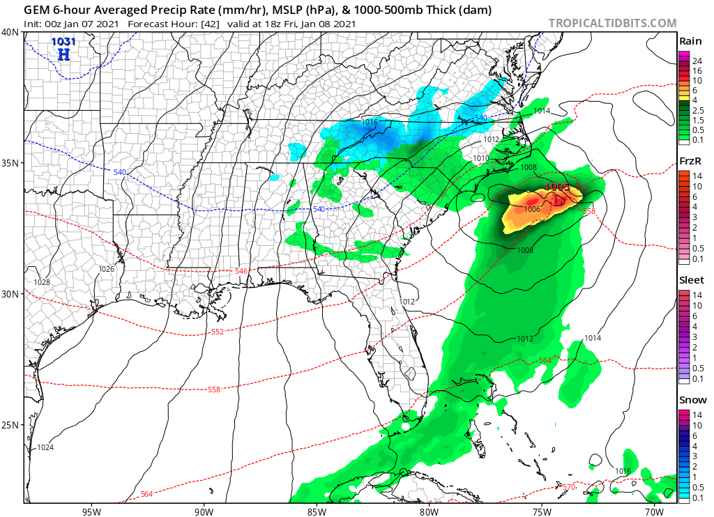 Latest on the Snowstorm from tennessee to North carolina