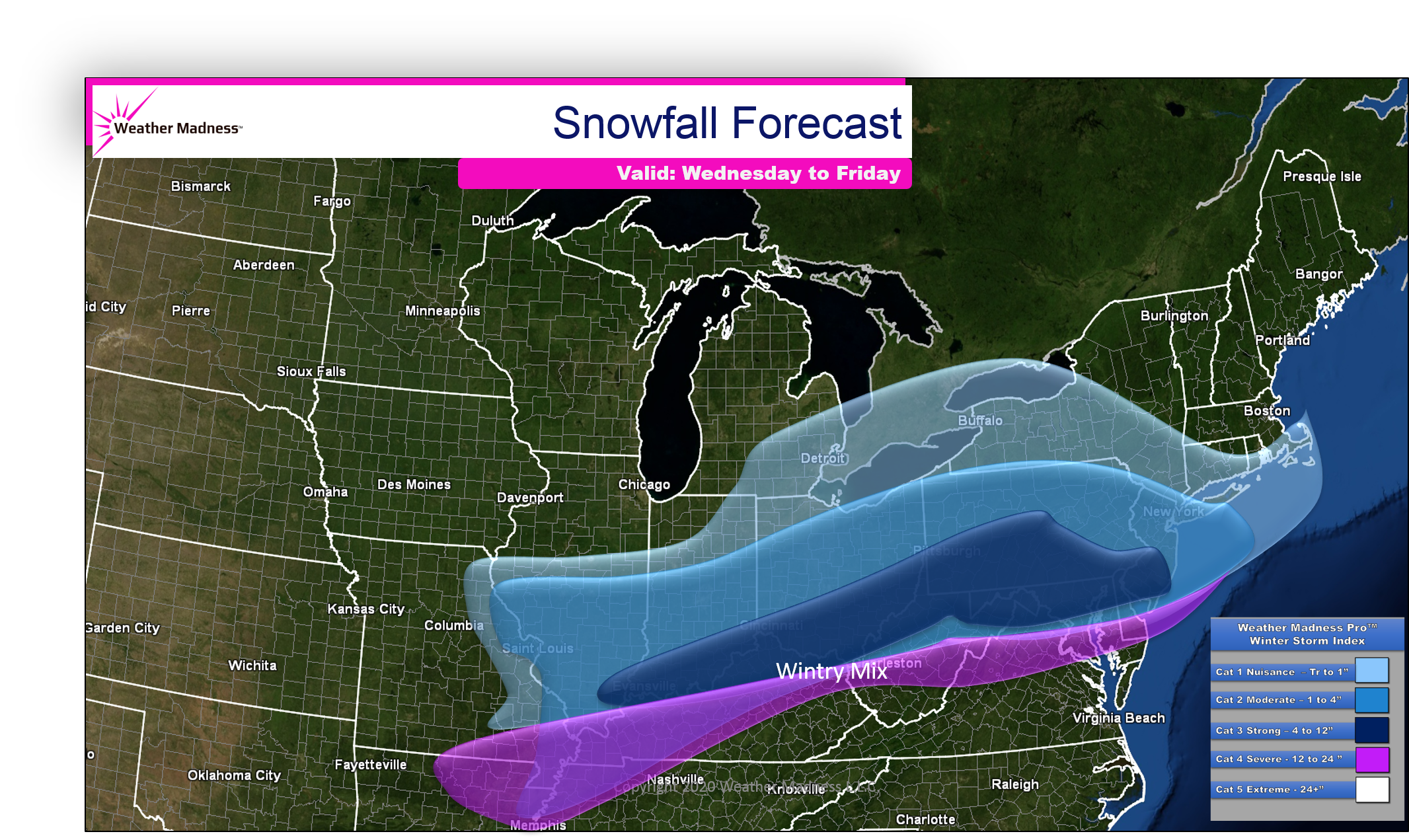 Second Snowstorm Also Produces a Wintry Mix…Snow Map!