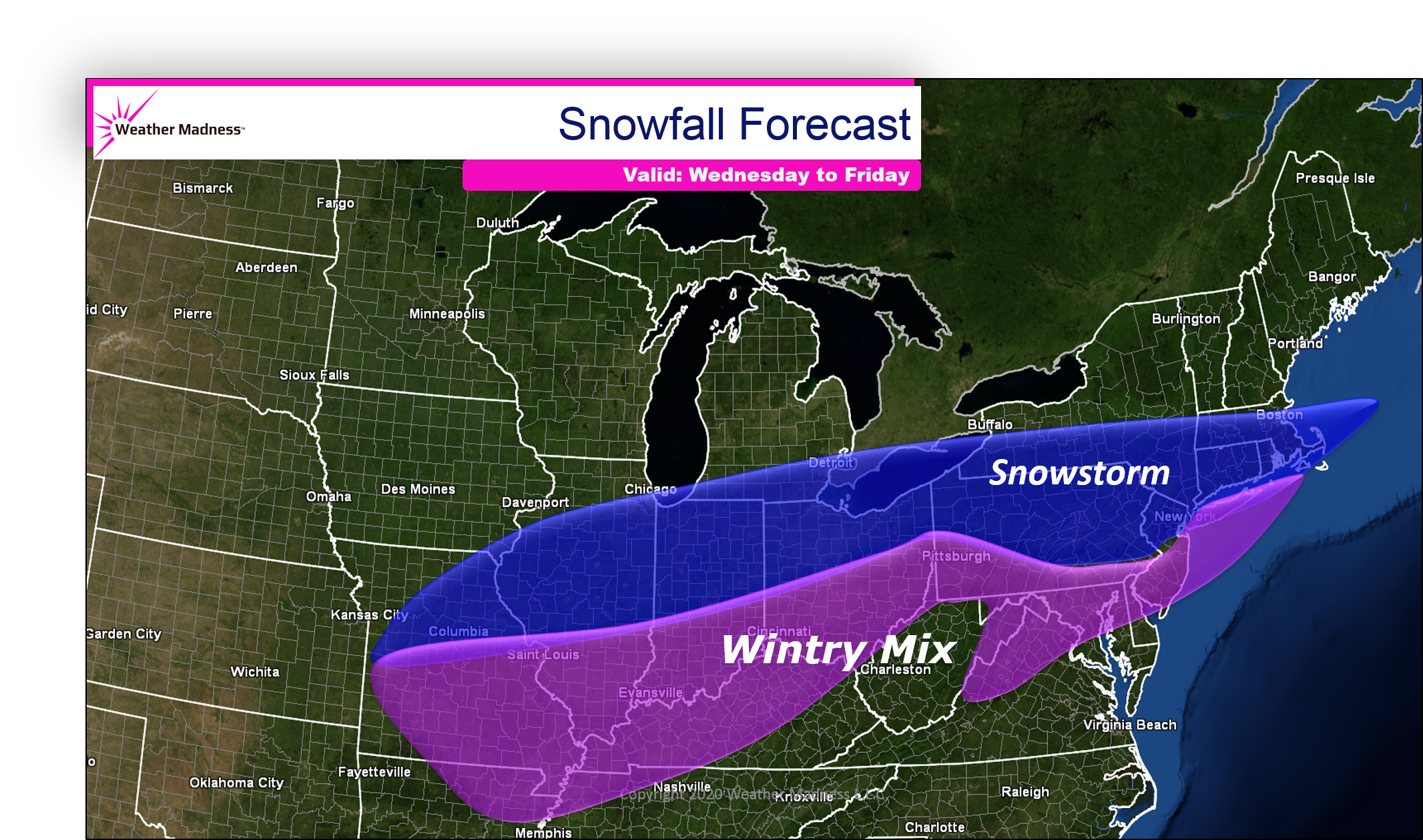 Messy Winter Storm Wednesday to Friday