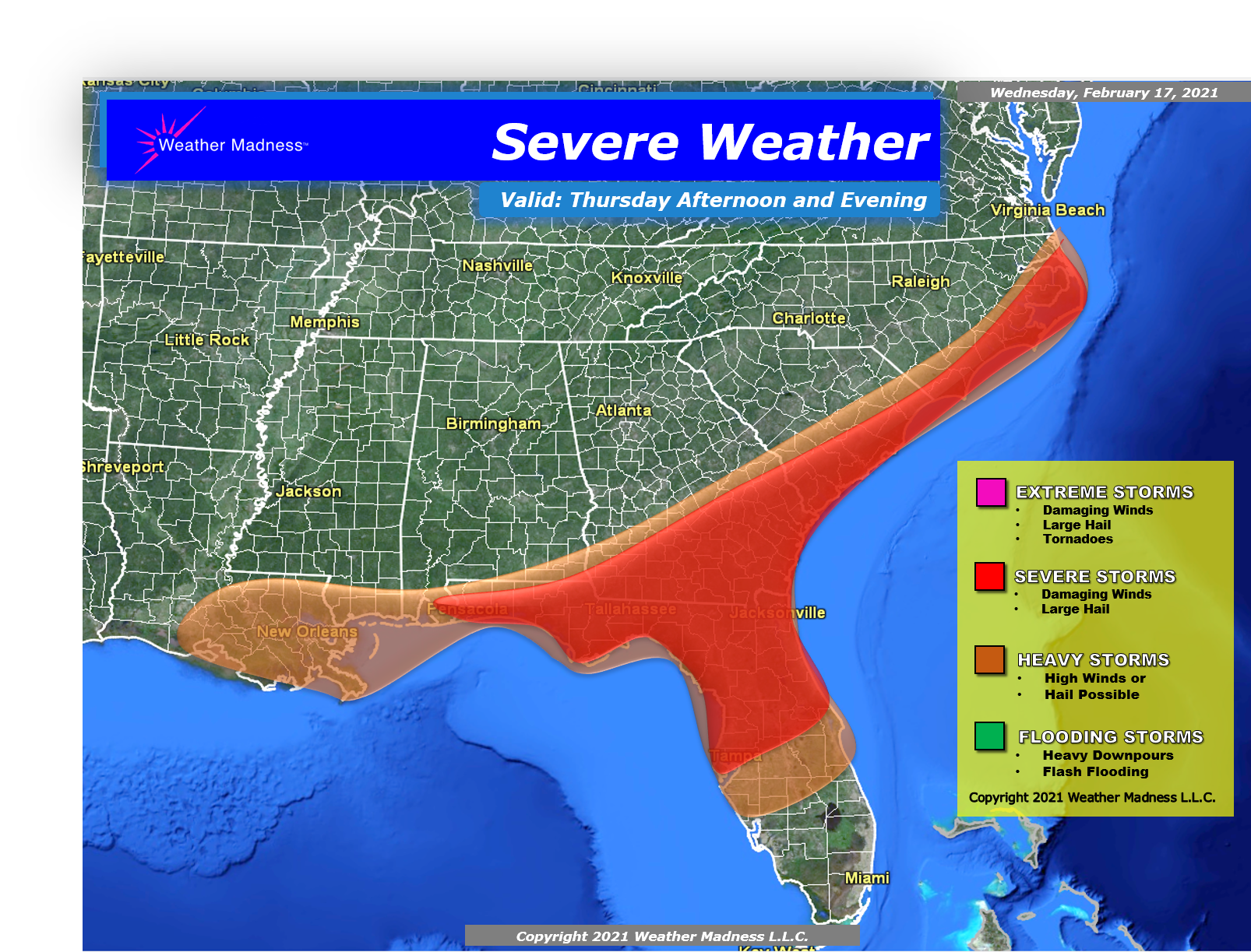 Severe Weather Thursday Afternoon and Evening