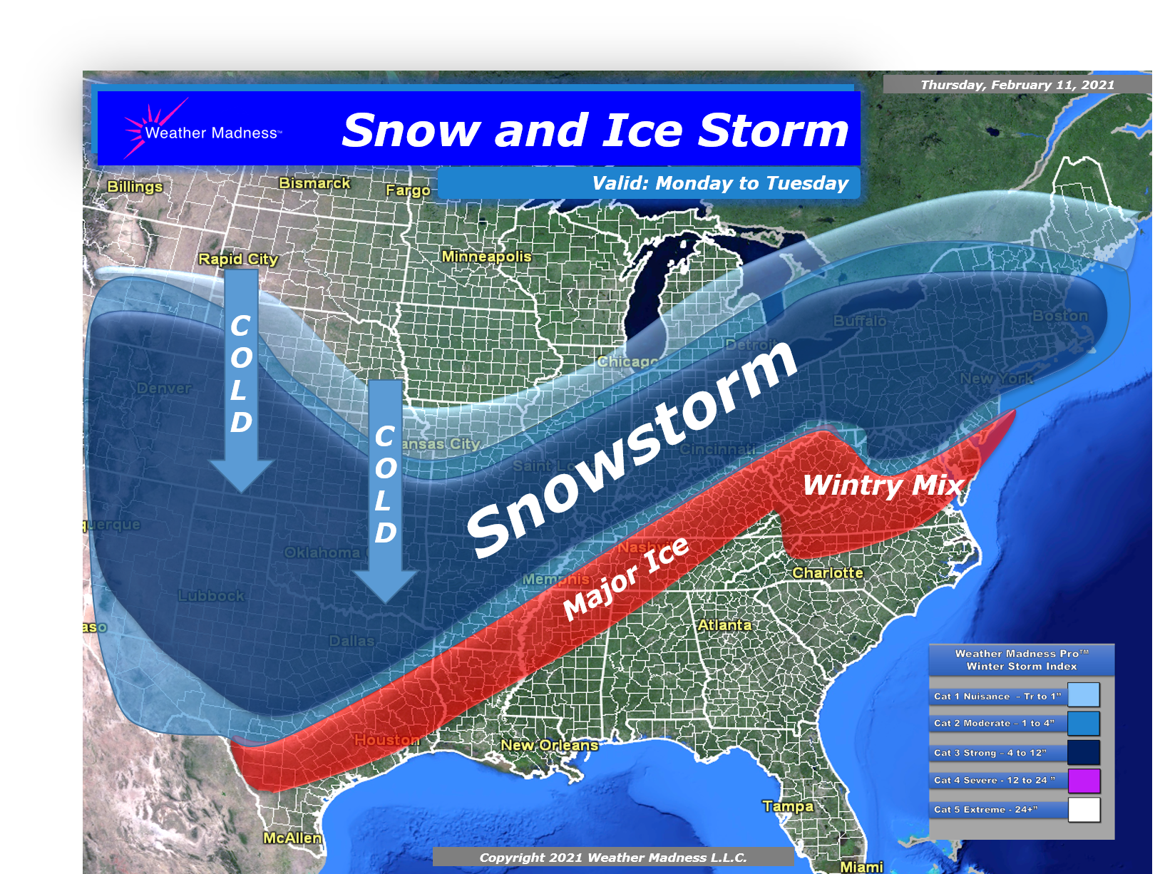 Video: Snow, Cold, Ice Impacts, Major Problems
