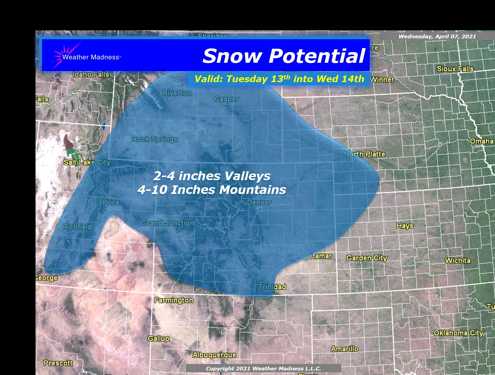 Spring Snow for Denver and Boulder Again