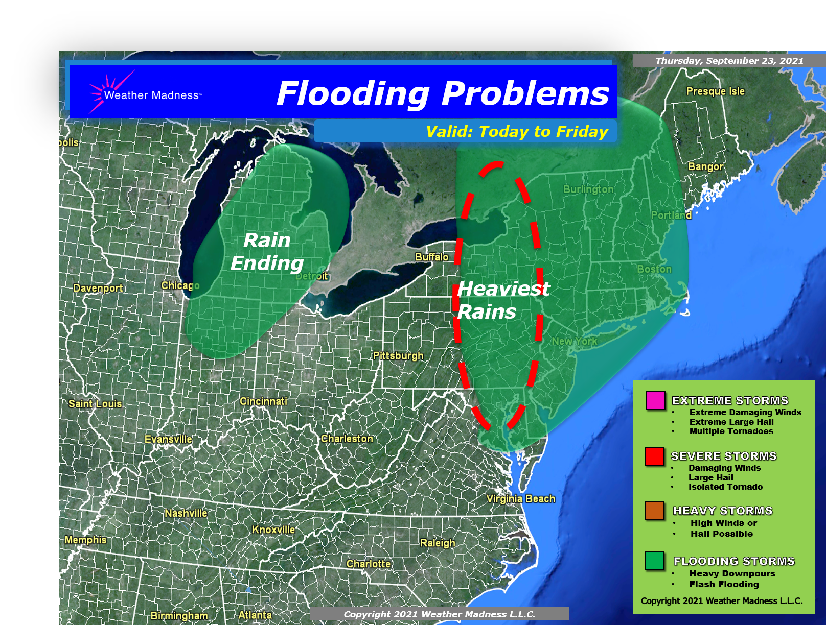 Heavy Rains will Cause Some Flooding Problems